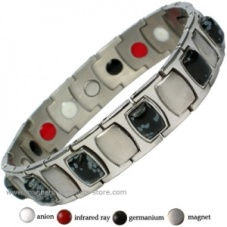 MPS™ MEN'S TARENT Stainless Steel & Germanium Magnetic Bracelet