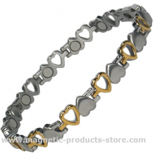 VENUS HEARTS Titanium Metal Bracelet